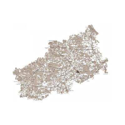 карта тверь