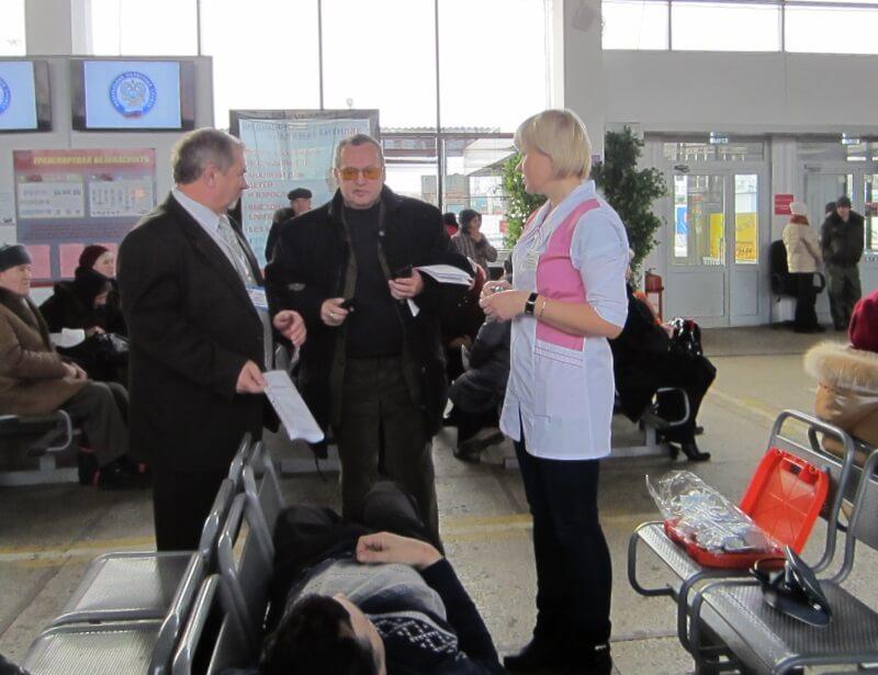 На тверском автовокзале прошли учения по оказанию первой медицинской помощи пассажирам