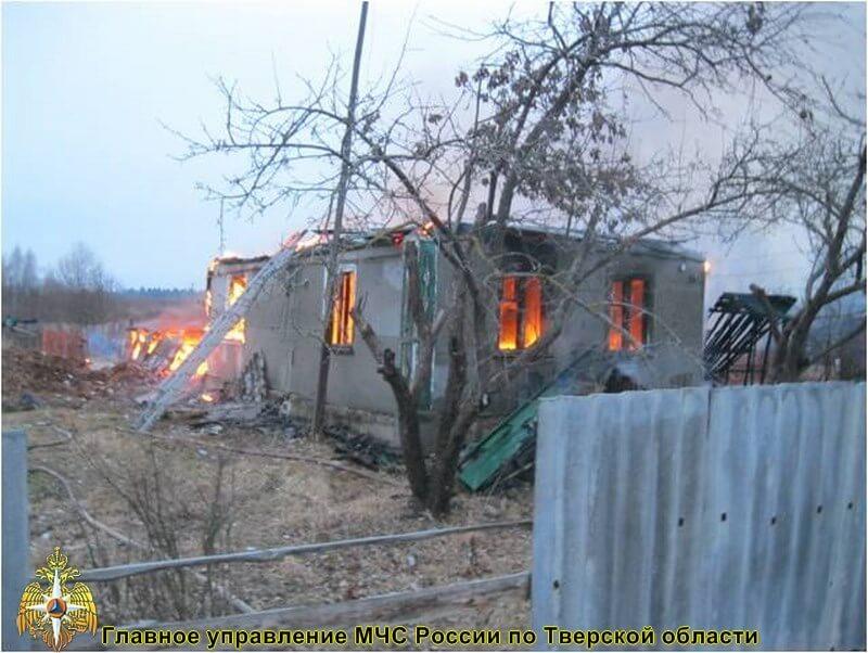 В Конаковском районе произошел пожар в жилом доме