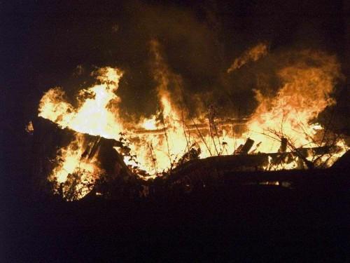 фото В Оленинском районе на пожаре погибла женщина с двумя детьми
