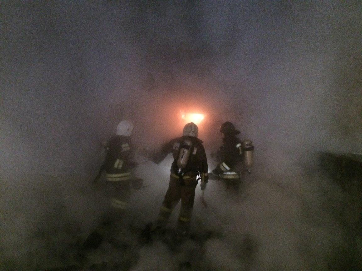 Во время пожара в Кимрском районе пострадал человек