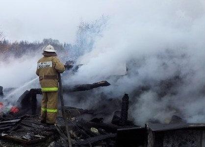 фото В Торжокском районе сгорел жилой дом