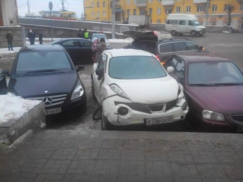 фото В Твери погоня закончилась дорожно-транспортным происшествием
