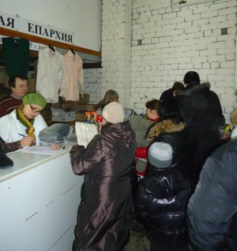 фото Благотворительную помощь получили более 100 семей беженцев