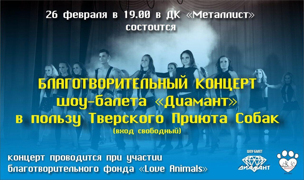 Благотворительный концерт в пользу тверского приюта для собак