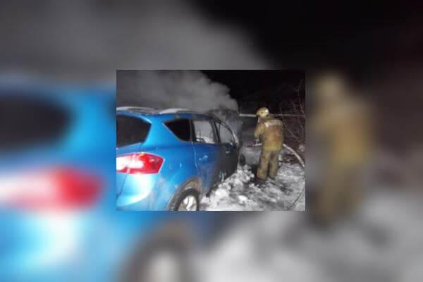 В Торжокском районе сгорел автомобиль