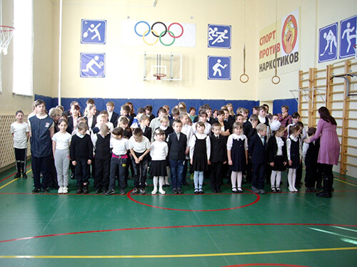 В Станской школе Лихославльского района открылся обновленный спортзал