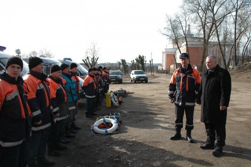 Тверские спасатели отработали действия при возникновении ЧС, вызванных весенним половодьем