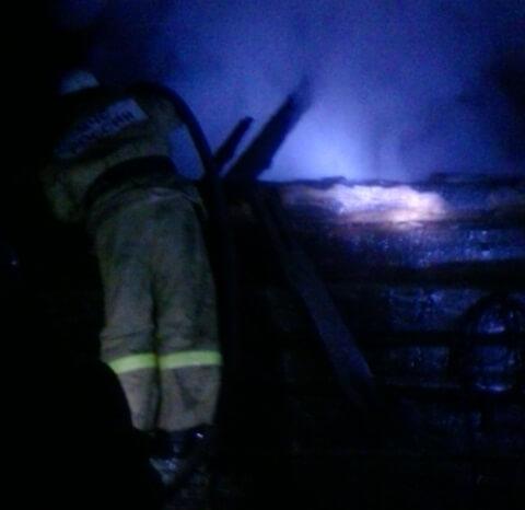 фото В Кимрском районе из-за неполадок с электропроводкой сгорел дачный дом
