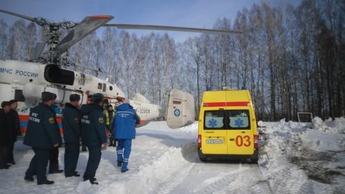 фото Жителя Краснохолмского района транспортировали в тверскую ОКБ на вертолете МЧС