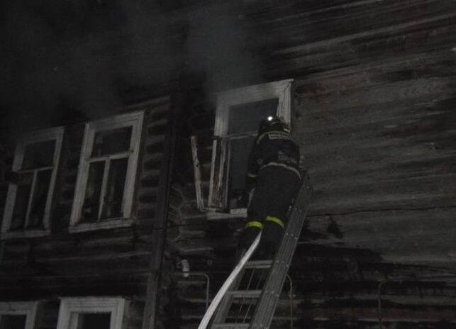 На пожаре в городе Красный Холм пострадал человек