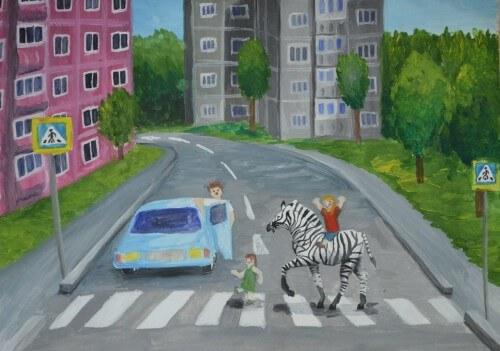 """фото В Удомельском районе прошел конкурс рисунков и плакатов """"Безопасная магистраль"""""""
