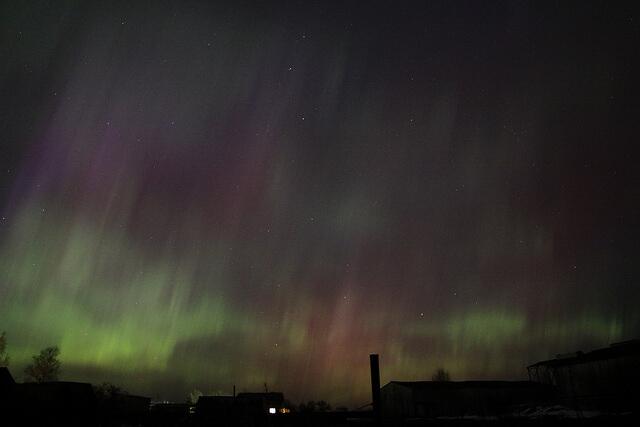 Вечером 17 марта тверичи могли наблюдать северное сияние
