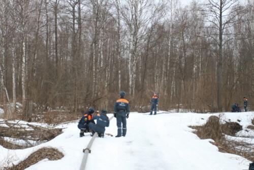 фото Тульские спасатели помогают тверским коллегам в предупреждении природных пожаров