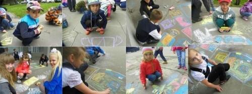 фото У Тверского почтамта прошел детский конкурс рисунка на асфальте