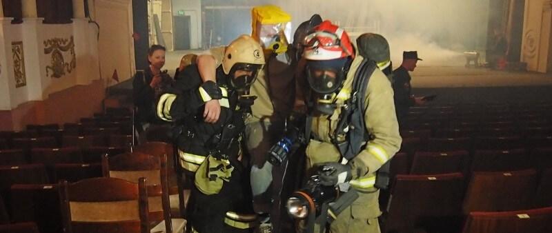 В Тверском театре драмы прошли учения по ликвидации условного пожара