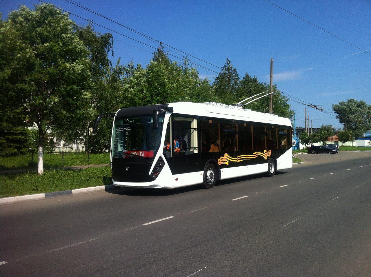 """В Твери вышел на обкатку новый троллейбус """"Адмирал"""""""