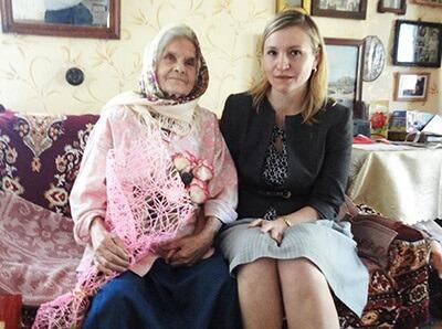 фото Жительница поселка Селижарово отметила 100-летний юбилей