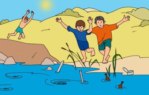 фото В связи с наступлением теплой погоды, МЧС напоминает правила поведения на водоемах