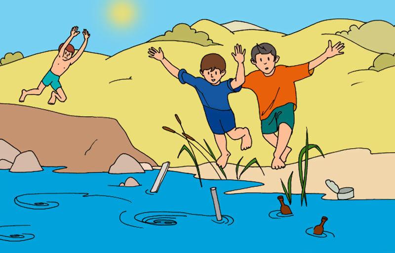 В связи с наступлением теплой погоды, МЧС напоминает правила поведения на водоемах