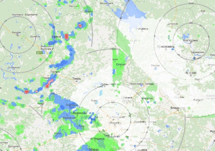 В районах области из-за грозы объявлено штормовое предупреждение