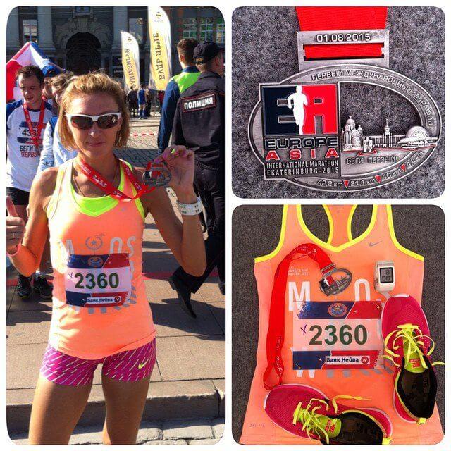 Тверичанка Наталья Измоденова победила на международном марафоне Европа-Азия