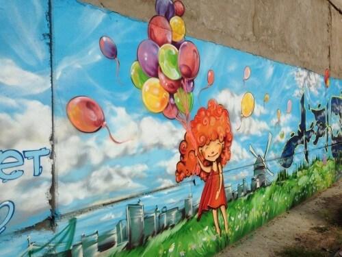 """фото """"Художества"""" вандалов больше не появятся на стене в микрорайоне Юность"""