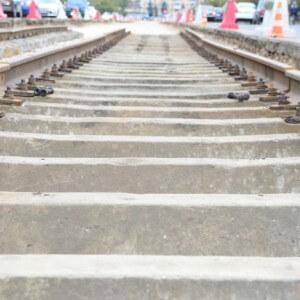 фото В Твери продолжается восстановительный ремонт трамвайных путей