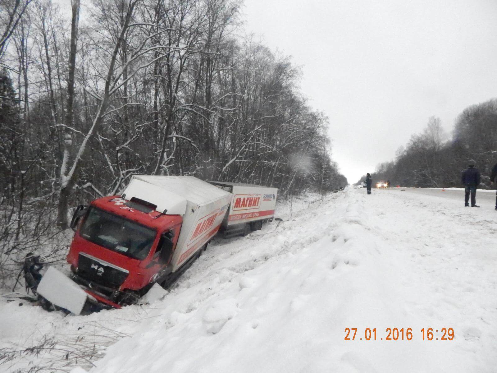 Аварийность на территории Тверской области за 27 января