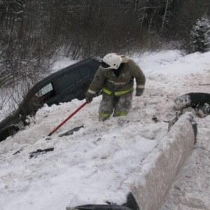 фото В Рамешковском районе автомобиль улетел в кювет