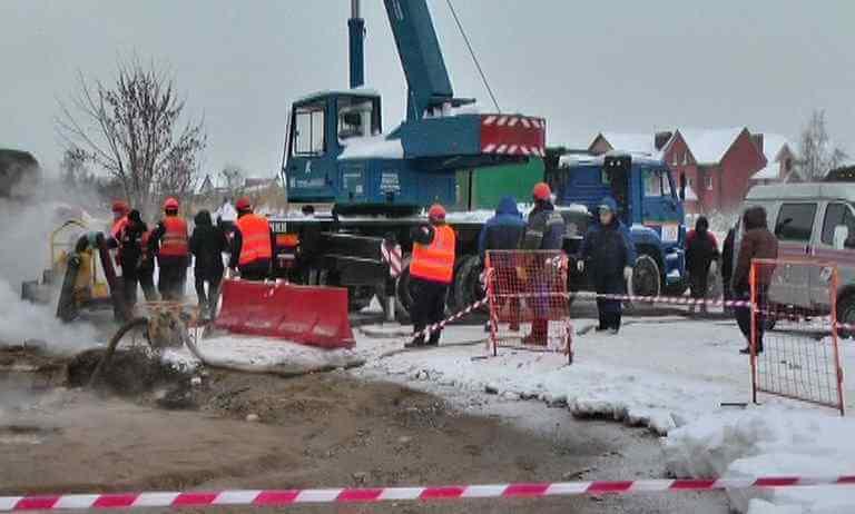 Вслед за Московским районом Твери прорыв трубопровода произошел на Соминке
