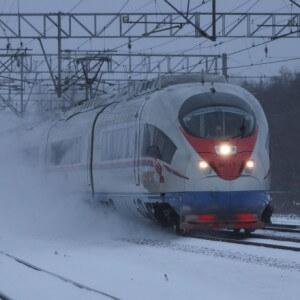 """фото В новогодние каникулы на """"Сапсанах"""" прокатилось на треть больше пассажиров"""