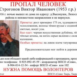 фото (Найден, погиб) В Лихославльском районе пропал Виктор Строгонов