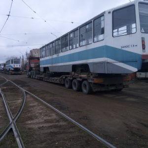 фото В Тверь прибыли трамваи, переданные Москвой