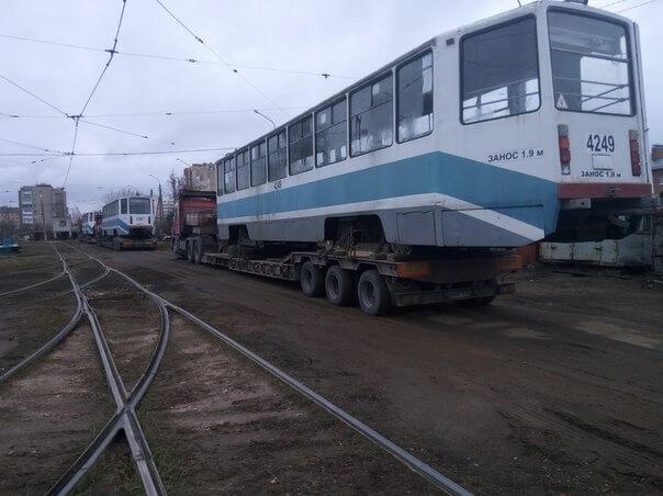 В Тверь прибыли трамваи, переданные Москвой