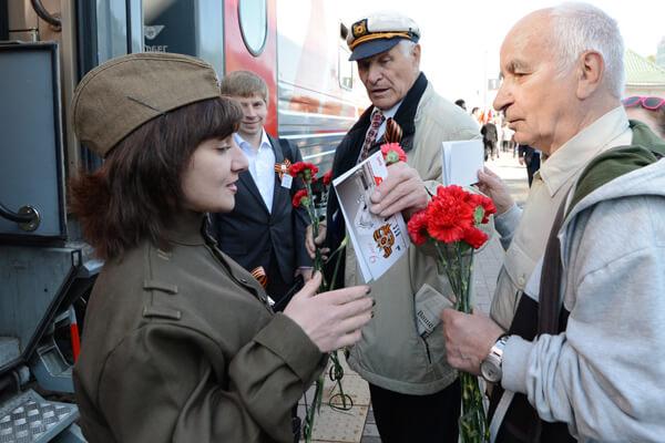 На майские выходные участники и инвалиды ВОВ смогут воспользоваться бесплатным проездом на поездах дальнего следования