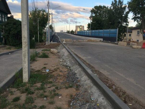 В Торжке планируют досрочно открыть отремонтированный путепровод