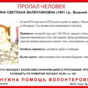 фото В Вышнем Волочке пропала Светлана Замяткина