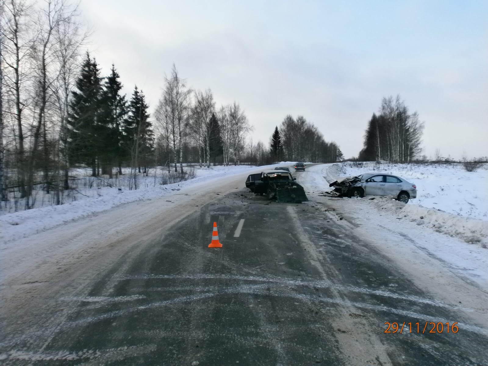29 ноября в 3 ДТП на дорогах области пострадали 3 человека
