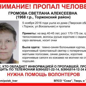 фото В Торжке пропала Светлана Громова