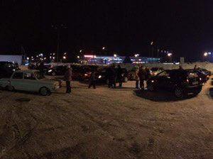 фото Тверские автолюбители создали авто-снежинку