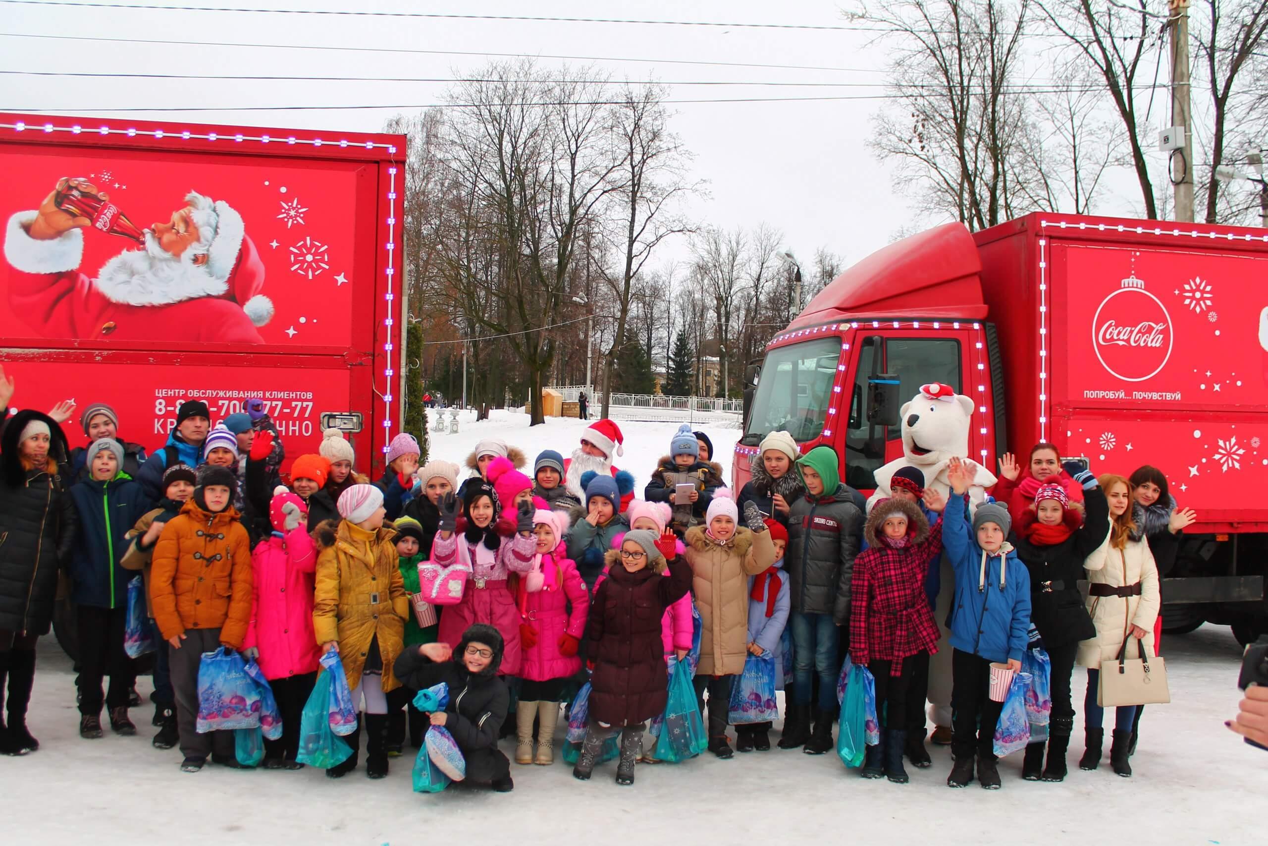 Рождественский караван Coca-Cola проехал через Тверь