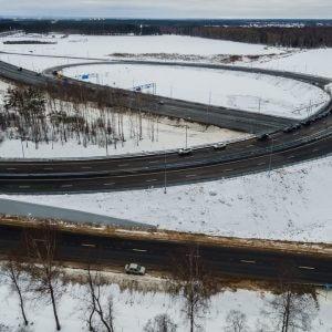 фото Завершено строительство транспортной развязки на въезде в Тверь
