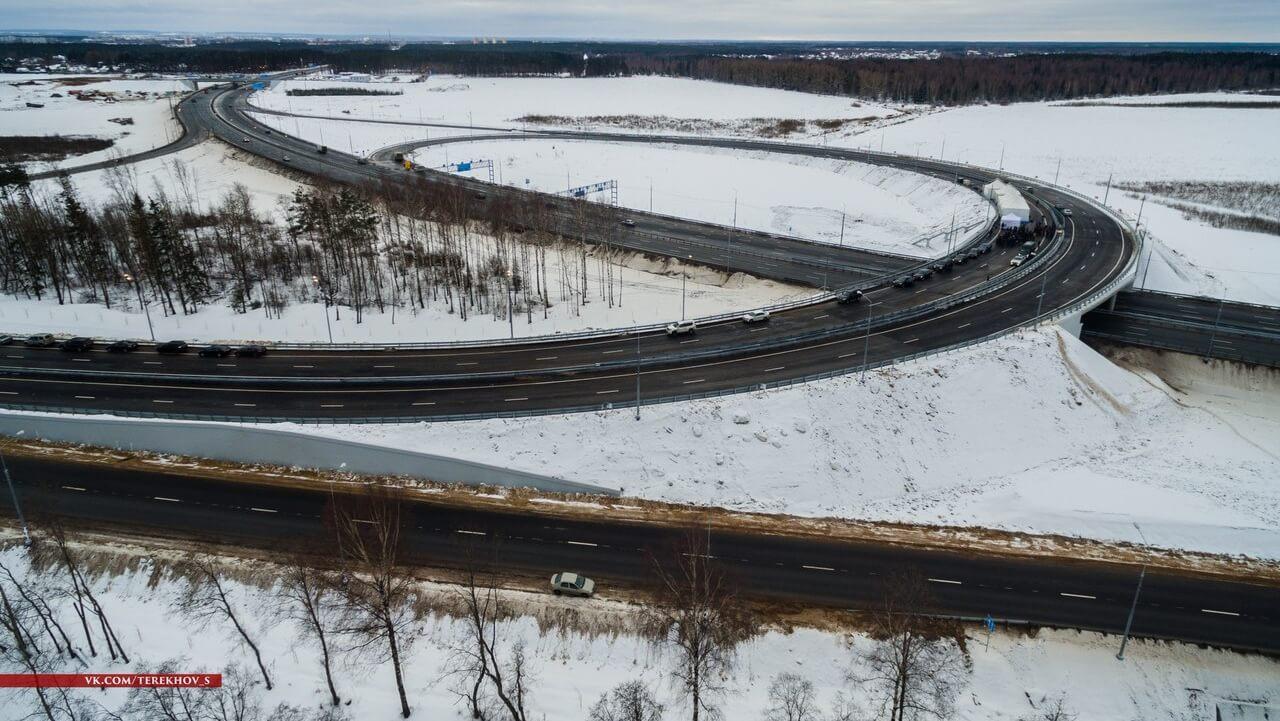 Завершено строительство транспортной развязки на въезде в Тверь