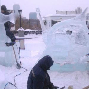 фото Братья Григорьевы из Спировского района завоевали специальный приз Международного фестиваля ледовой скульптуры