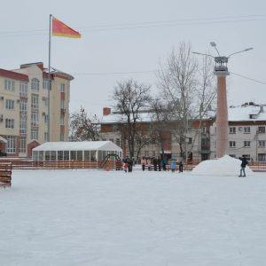 фото В Твери появился новый каток на площади Славы
