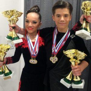 фото Тверские танцоры Егор Карпенко и Виктория Курепина завоевали три медали всероссийских соревнований