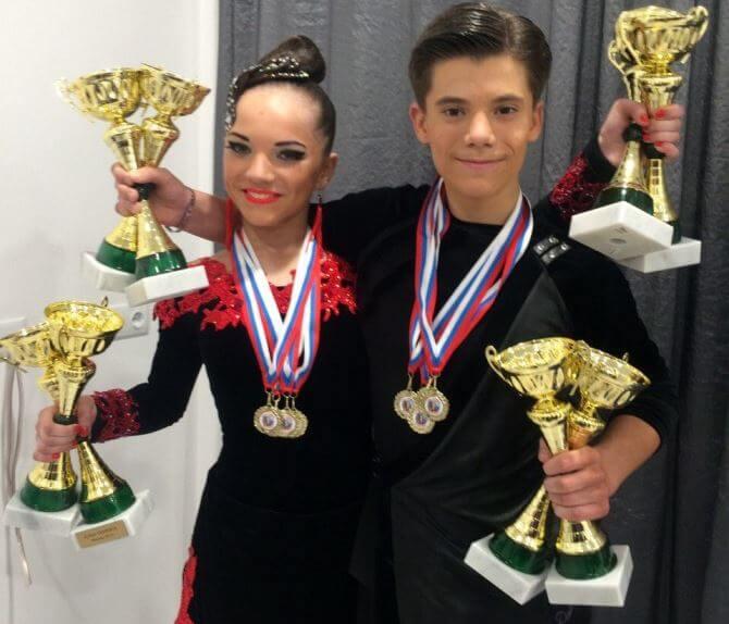 Тверские танцоры Егор Карпенко и Виктория Курепина завоевали три медали всероссийских соревнований