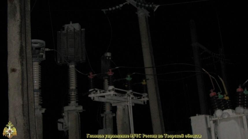 Электроснабжение в Осташковском районе восстановили только к ночи