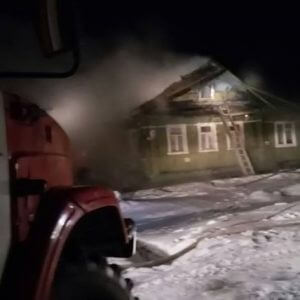 фото В Вышнем Волочке на пожаре пострадал человек